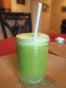 Green juice (celery, kale, cilantro, lemon, green apple)