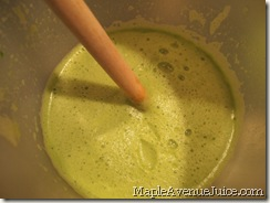 frothy green juice