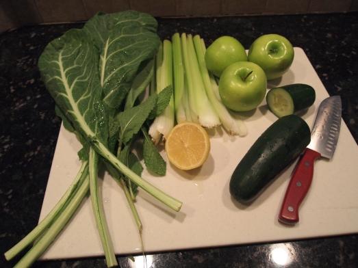 Ingredients of The Lean Green Juice