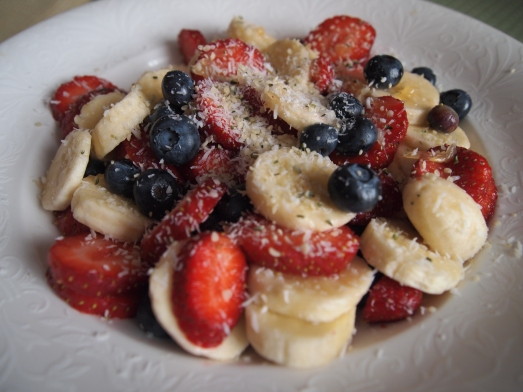 strawberry blueberry banana freedom fruit salad