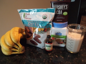 Ingredients for Chocolate-Banana Lovers Smoothie Recipe
