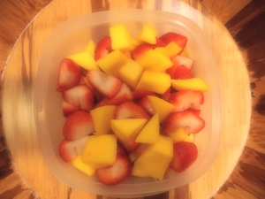 mangoes and strawberries