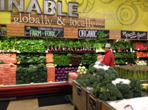 A beautiful array of organic and local vegetables at Whole Foods in Austin, Texas