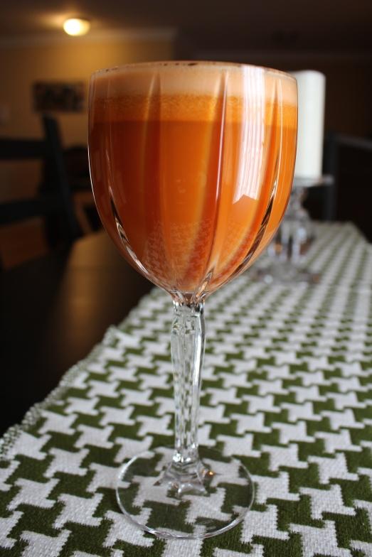 organic juice recipe orange glow
