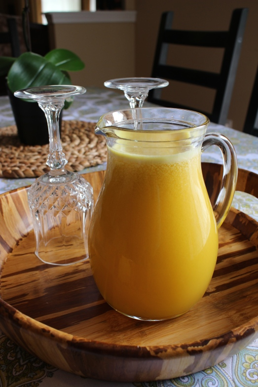 orange, apple, pineapple and lemon juice